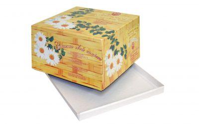 Продукция комбината Покровский - Упаковка для торта Ромашки