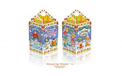 Продукция комбината Покровский - Новогодний баул «Фейерверк» 1 кг (картон)