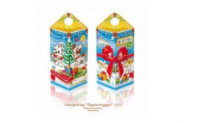 Продукция комбината Покровский - Новогодний баул «Подарок от друзей» 0,5 кг (картон)