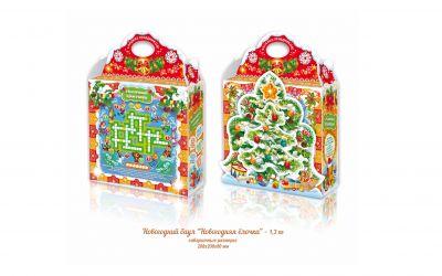 Продукция комбината Покровский - Новогодний баул «Новогодняя елочка» (картон) 1,3 кг