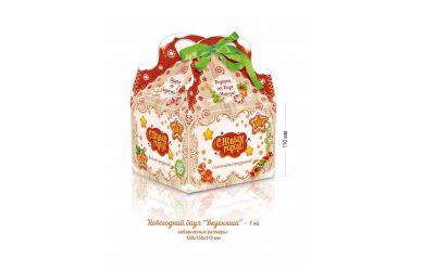 Продукция комбината Покровский - Новогодний баул «Вкусняша» (картон) 1 кг
