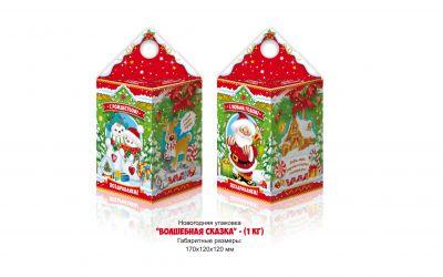 Продукция комбината Покровский - Новогодний баул «Волшебная сказка» (картон) — 1 кг  Есть символ года! Цена без НДС — 33 коп.